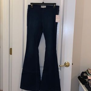 Free People dark wash bell bottom pants